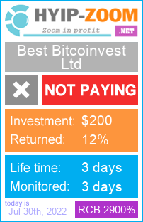 hyip-zoom.net - hyip best bitcoinvest ltd